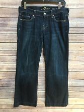 7 Seven For All Mankind Dojo Flip Flop Womens Dark Wash Distressed Jeans Size 28