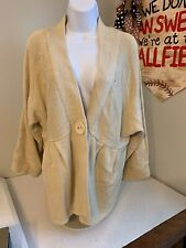 Mountain Lake 3/4 Sleeves Tan Cardigan Sweater V Neck L  NWT  C78