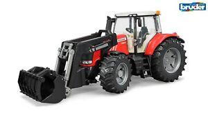 Bruder 03047 Massey Ferguson 7624 mit Frontlader Traktor, Schlepper, Trecker Neu