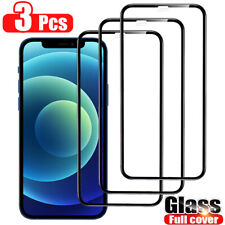 3 Pack FULL COVER Tempered Glass Screen Protector For iPhone 11 12 Pro Max XS XR
