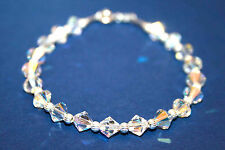 made with SWAROVSKI ELEMENTS Crystal AB Sparkly Handmade Bridal Bracelet