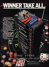 JAMES BOND 007__ Original 1985 video Print AD / CBS/FOX movie promo__Roger Moore