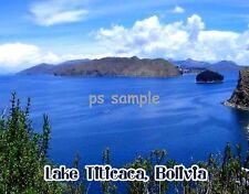 Bolivia - LAKE TITICACA - Travel Souvenir FLEXIBLE FRIDGE MAGNET