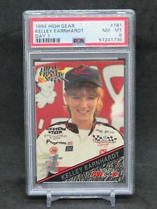 1994 HIGH GEAR RACING NASCAR KELLEY EARNHARDT DAY 1 #181 PSA 8 EB