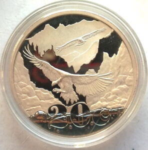 South Africa 2009 Cape Griffon Vulture 20 Cents 1oz Silver Coin,Proof