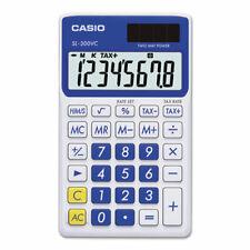 Sl-300Svcbe Handheld Calculator, 8-Digit Lcd, Blue