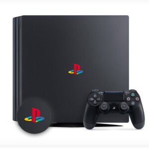 PLAYSTATION PS4 PRO CLASSIC RETRO LOGO DECAL STICKER VINYL x 2