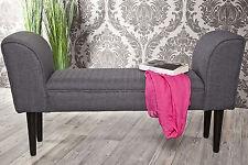 kleine Sitzbank Polsterbank dunkel grau *436