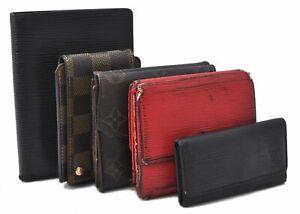Louis Vuitton Monogram Damier Wallet Organizer Cover Key Ipod Case 5set LV B1377