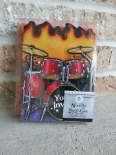 Your Invited Drum Set Rockin' Out Party Invitations and Envelopes 8 Set Amscan