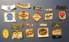 Lot of 19 Old Vintage - Mini - Beer Labels - Grain Belt Duquesne Goebel Hamm's