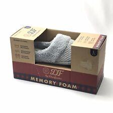 Dearfoams Women Memory Foam Slippers Size 9-10 Large Grey Washable Slipper