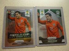 2014 PANINI PRIZM WORLD CUP JULIO CESAR LOT BRAZIL