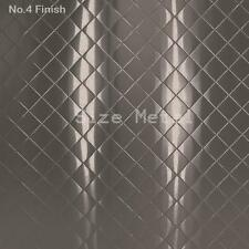 8 Pack - Brushed Quilted Diamond Stainless Steel Sheets, 4' x 10'