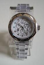 Fashion Designer Clear/Silver finish 3D Boyfriend light weight  Watch