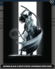 DC COMICS BLACK & WHITE BATMAN CATWOMAN STATUE BY STEVE RUDE (FACTORY SEALED)