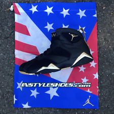 Nike Air Jordan 7 VII Retro Black Gold Sz 10 DS GMP DMP 304775-030