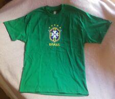 Sz Large CBF Brasil Brazil Green Soccer Futbol  T-Shirt  • new without tag