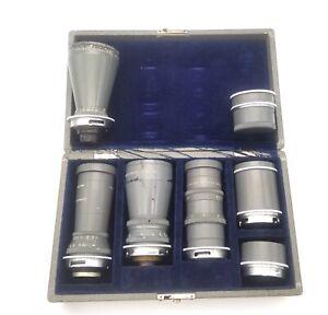 Set of 3 rare fast cinema lenses Wollensak Fastax Raptar 12mm, 25mm and 152mm