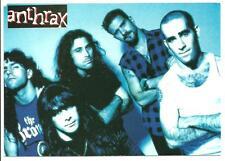 ANTHRAX - PROMOTIONAL POSTCARD - THRASH, SPEED METAL, HARD ROCK