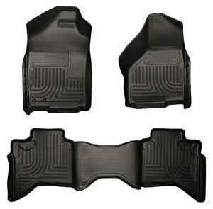 For 2010-2013 Toyota Prius Floor Mats Husky WeatherBEATER Liners Black Liner Mat