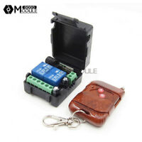 DC 12V 2CH Channel Wireless RF Remote Control Switch Transmitter& Receiver Relay