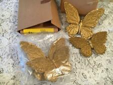 Lot 4 HOME INTERIOR GOLD BUTTERFLY WALL PLAQUES #1753 NEW IN BOXES