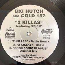 "BIG HUTCH aka COLD 187 2 Killas / Boombonic Plague 12"" VG+ (1999) ft XZIBIT"