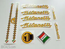 MILANETTI decal sticker for bicycle - yellow - silk screen - free shipping