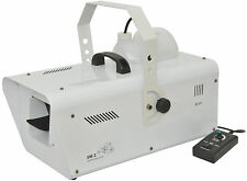 QTX SW2 Máquina De Nieve 1200 W alta potencia Inc Fiesta Discoteca DJ DMX Efecto remoto