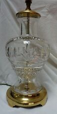 WATERFORD Crystal CUT GLASS TABLE LAMP Baluster Shape BRASS BASE  #1