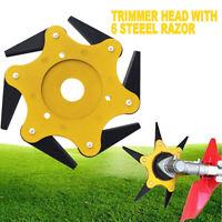 Universal 6 Blades Razors Lawn Mower Trimmer Head Grass Weed Brush Cutter Eater