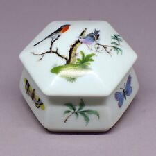 Fine Hexagon Porcelain Box by Limoges, French.