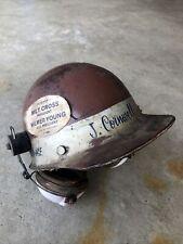 Vintage Msa Skullgard Fiberglass Protective Mining Hard Hat With Ao Ear Muffs
