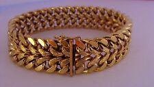 Bracelet gourmette plaqué or 18k Laminé