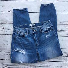 Pistola distressed boyfriend jeans medium wash size 27 Mid rise