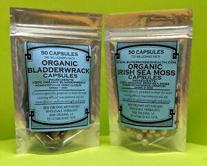 100% Natural Mar Musgo Irlandés + Fucus Sebi Orgánico Desintoxicación