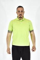 HUGO BOSS PRIMA COTTON Polo Mezza Manica Verde In Cotone TG M Uomo Man