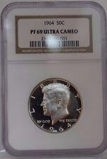 1964 Proof 69 Ultra Cameo Kennedy Half Dollar
