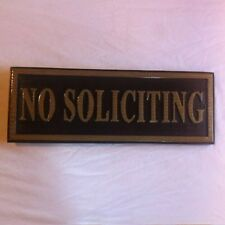 No Soliciting 3D routed carved plaque bar pub wood sign Custom