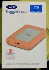 Lacie Rugged USB-C USB 3.0 1TB - STFR1000800 - LRD0TU6 - Nuovo