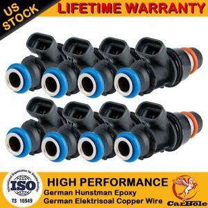8x Upgrade Fuel Injectors 25317628 For GM Chevy Silverado GMC 4.8/5.3/6.0L 99-07