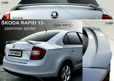 SPOILER REAR TRUNK BOOT SKODA RAPID WING ACCESSORIES