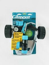 New, Gilmour Metal Wheeled Base Impact Lawn Garden Plants Sprinkler