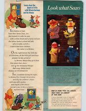 1972 PAPER AD Puppets Hand Muppets Ernie Bert Roosevelt Franklin Cookie Monster