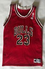 XL Youth Champion Michael Jordan Chicago Bulls Basketball Jersey Red VTG 1993