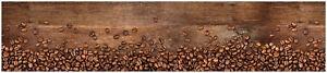 Küchenrückwand Fototapete Wallprint 60 x450 cm Fotoprint Kaffeebohnen braun