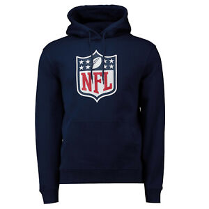 NFL Hoody National Football League Shield Navy Hooded Sweater Hooded Pullover