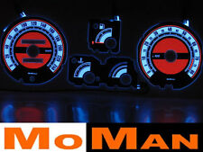 RENAULT 19 glow gauges plasma dials tacho cluster plates indiglo indiglo kit