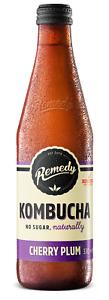 Remedy Raw Kombucha Tea -Cherry Plum 12 x 330ml - CLEARANCE